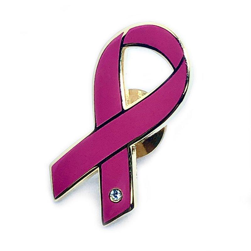 【リボンピンバッジ・医療支援】乳がん早期発見啓発ピンクリボン