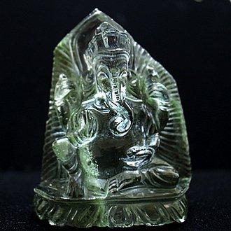 緑泥ヒマラヤ水晶ガネーシャ