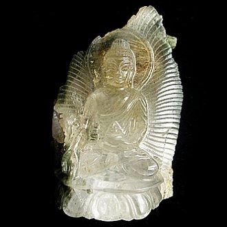 ヒマラヤ水晶彫刻<br>ロータス仏陀