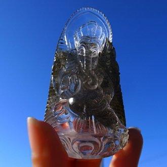 緑泥ヒマラヤ水晶ガネーシャ�