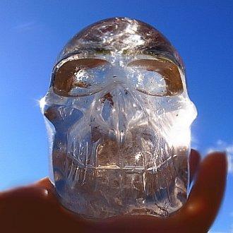 スモーキー貫入水晶スカル