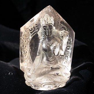 ヒマラヤ水晶<br>ホワイトターラ、、、トップクリア