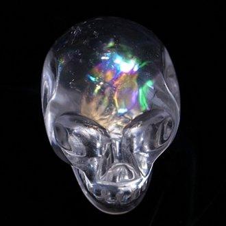 レインボー水晶スカル