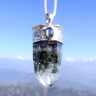 ヒマラヤ水晶<br>緑泥ペンダント2