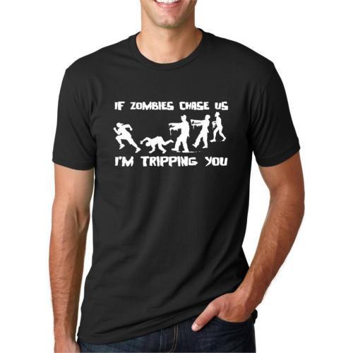 【海外ドラマ】 ウォーキングデッド WALKING DEAD ゾンビに追われたら君には転んでもらうTシャツ 【BLACK】