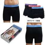 カルバンクライン Calvin Klein 3-Pack Cotton Classic Boxer Briefs S/XL (ボクサー3枚組)