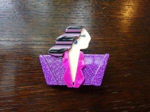 LEA STEIN リースタイン ブローチ カルメン ピンク×紫(S7092)