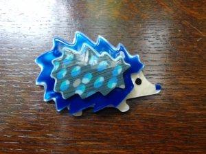 LEA STEIN リースタイン ブローチ 青い針ネズミ(S7127)