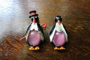 CORO ペンギンのペアブローチ ファークリップ(S7241)