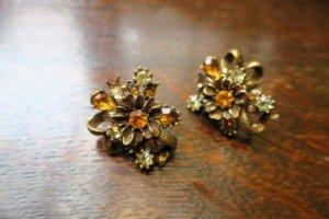 CORO お花とリボンのイヤリング(S7777-2)