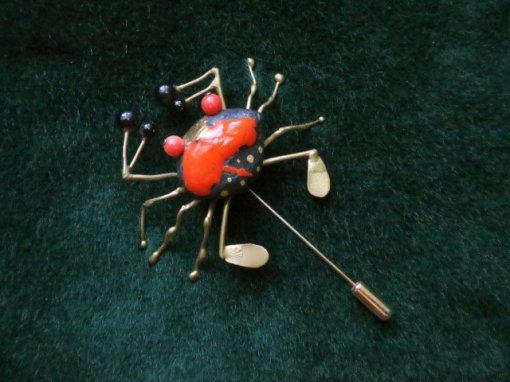 蟹のピンブローチ(S7463)