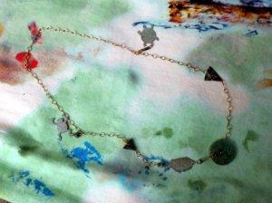 魚・カエル・亀・石のネックレス(S7866)