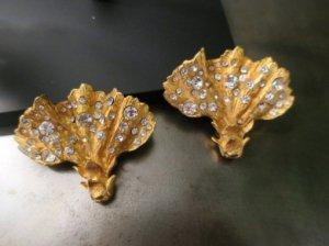 クリスチャンラクロア ゴールドイヤリング(S8007)