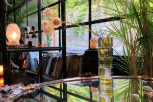 アールデコガラス花瓶(aaa22)