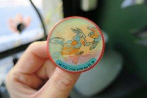 ソビエト 動くアニメーションブローチ ウサギとリス(S8135-2)
