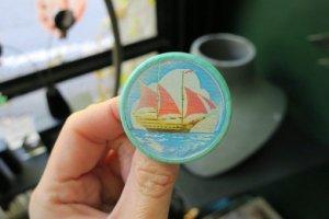 ソビエト 動くアニメーションブローチ 客船と帆船(S8135-3)