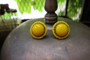 ミリアムハスケル 黄色いガラスのイヤリング(S8451)