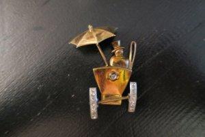 雨の日の馬車の男性(S8458)