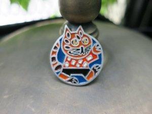 ソビエト丸顔猫のブローチ(S8480-8)