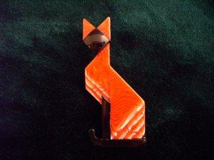 LEA STEIN リースタイン赤ネコブローチ(S1794 )