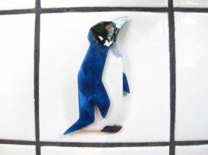 LEA STEIN リースタイン 鮮やかブルーのペンギンブローチ(S5655)