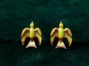 CORO 黄色い鳥のイヤリング(S7016)