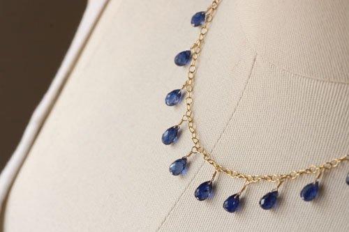 美しい藍色♪カイアナイト☆しゃらしゃら♪ネックレス☆