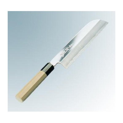 兼松作 鏡面仕上 鎌型薄刃 19.5cm