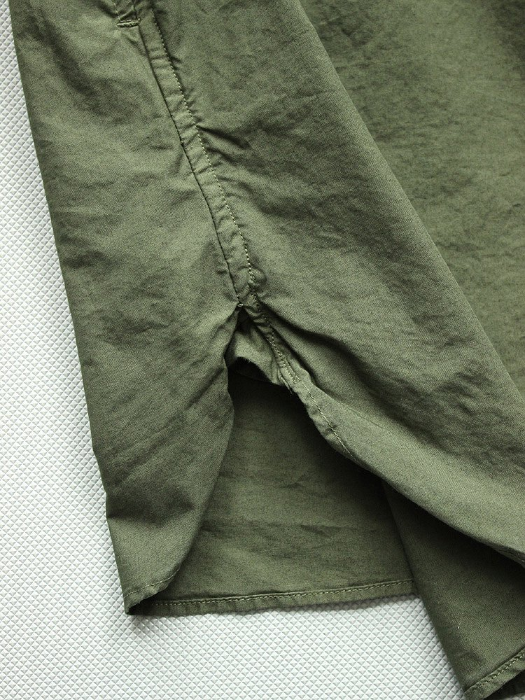 WIDE SPREAD COLLAR SHIRTS [EXCLUSIVE] #OLIVE