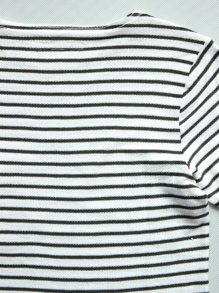 CURLY | カーリー BRIGHT BORDER LS TEE #WHITE/OLIVE