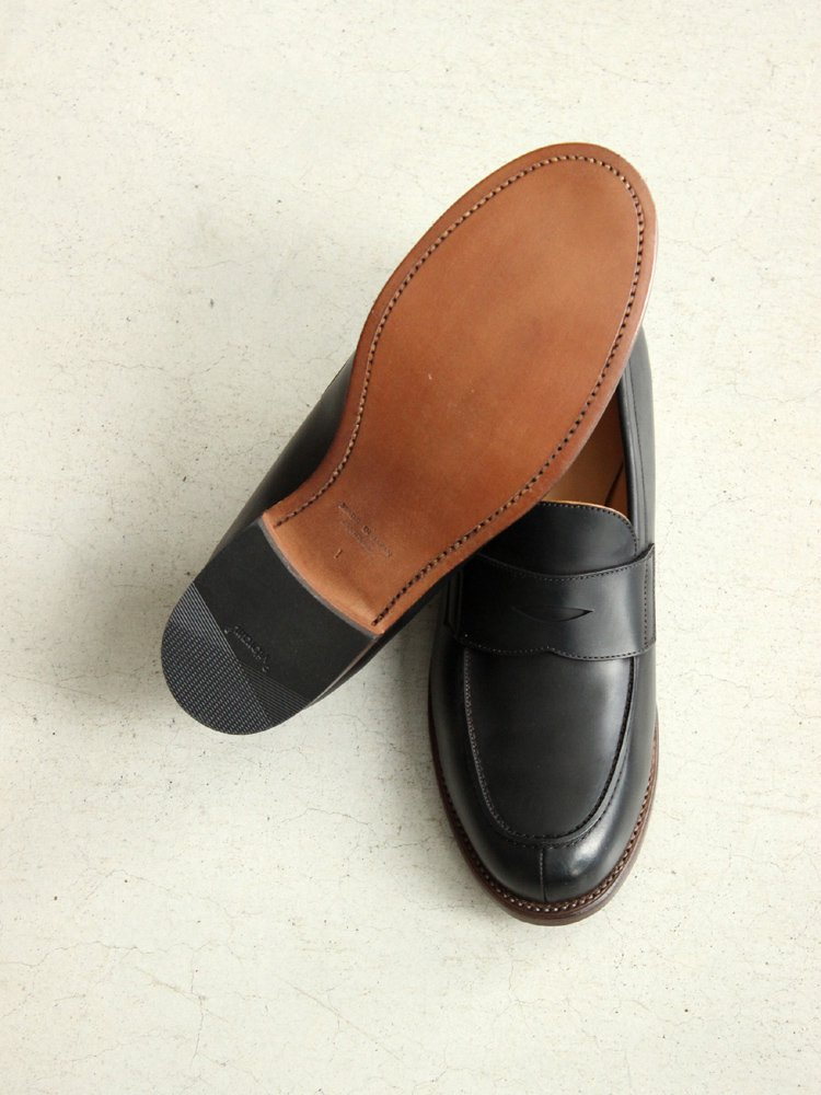 LEATHER&SILVER MOTO | モトレザー Coin Loafer(Cordvan) #BLACK