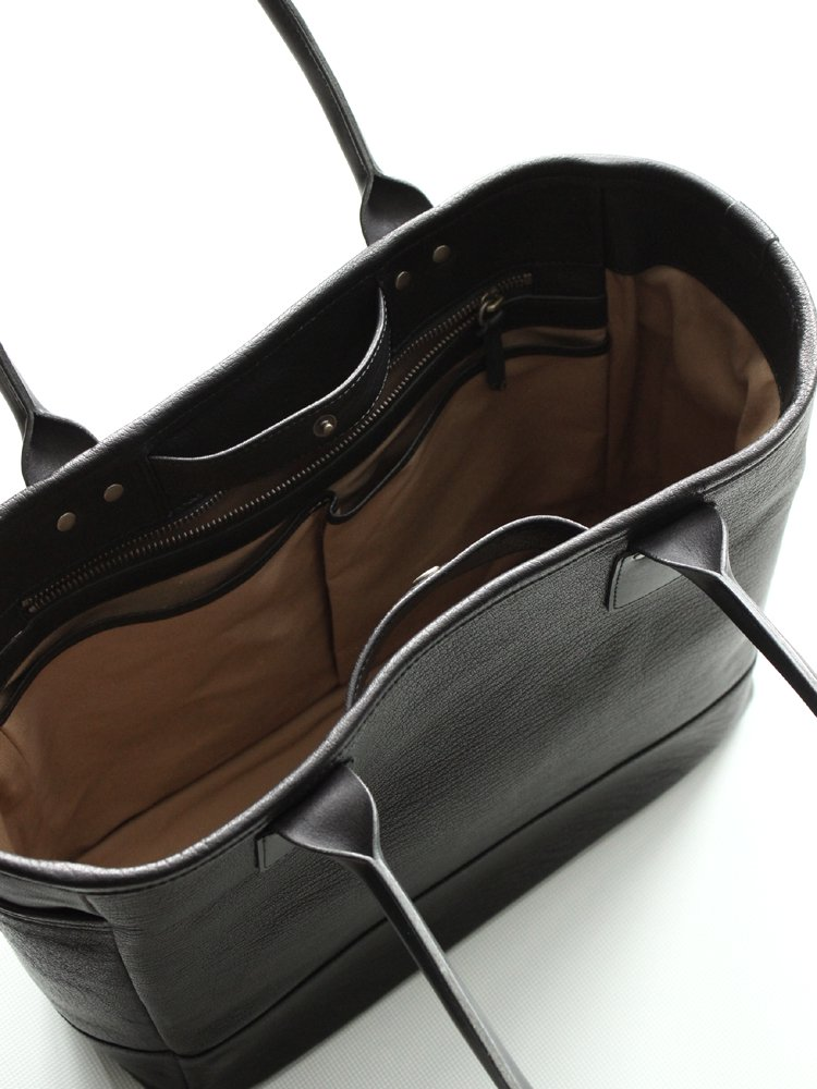 LEATHER&SILVER MOTO | モトレザー Tote Bag #BLACK