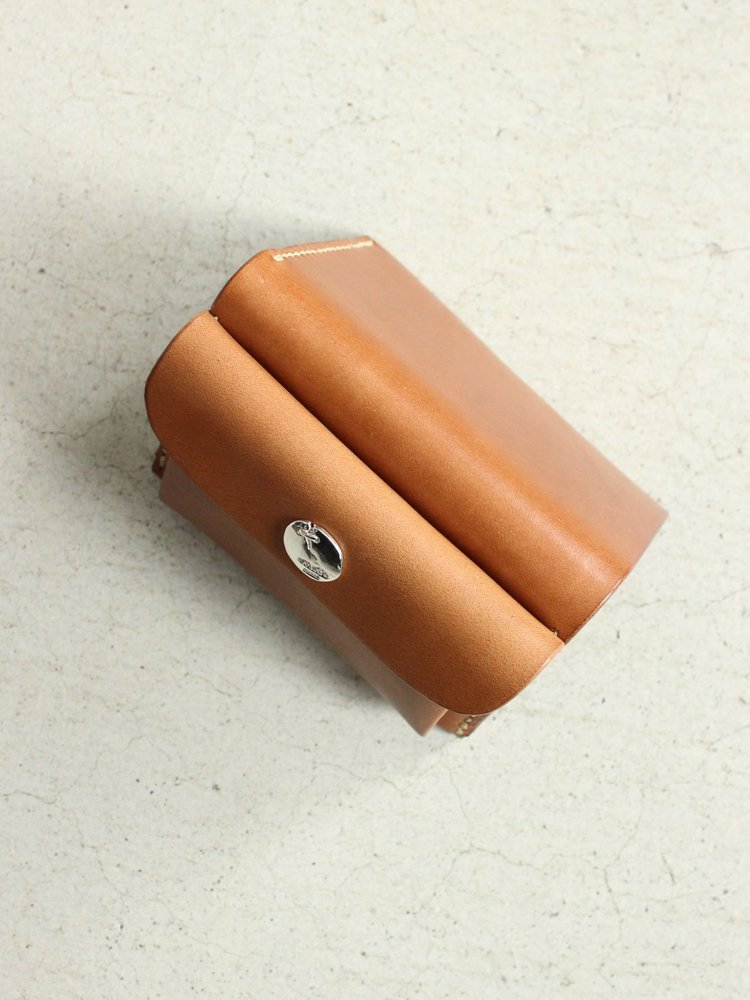 LEATHER&SILVER MOTO | モトレザー Mini Wallet(Cow Leather) #BROWN