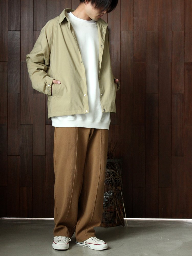 CURLY | カーリー RIPPLE SNAP TROUSERS #BEIGE