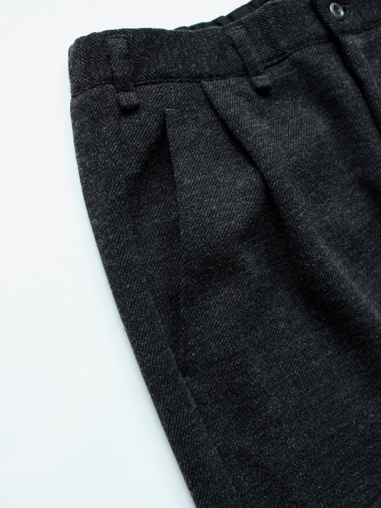 CURLY | カーリー FROSTED WIDE TROUSERS #CHARCOAL