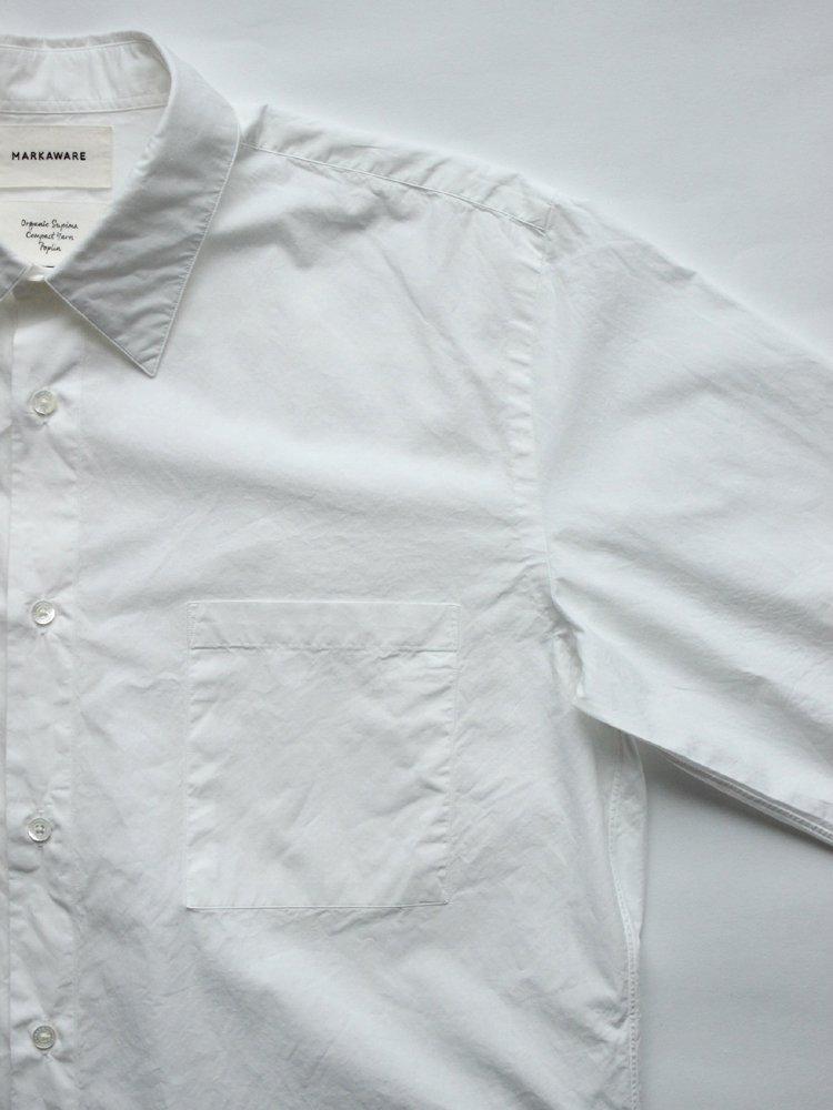 MARKAWARE | マーカウェア REGULAR COLLAR SHIRTS REGULAR-FIT #WHITE