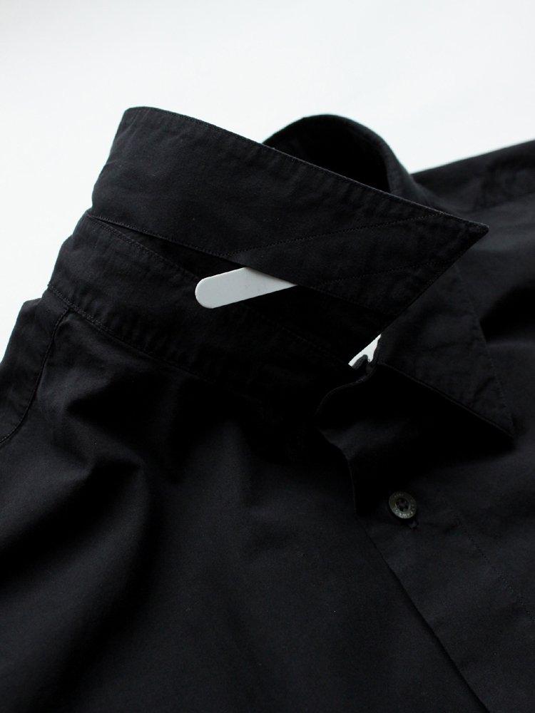MARKAWARE | マーカウェア REGULAR COLLAR SHIRTS REGULAR-FIT #BLACK
