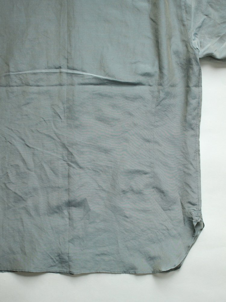 SIMPLE SMALL COLLAR SHIRTS #OPALINE