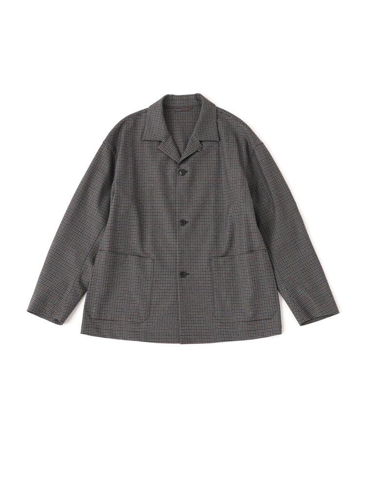 Phlannel Winter Check Pajamas Jacket #GRAY BASE