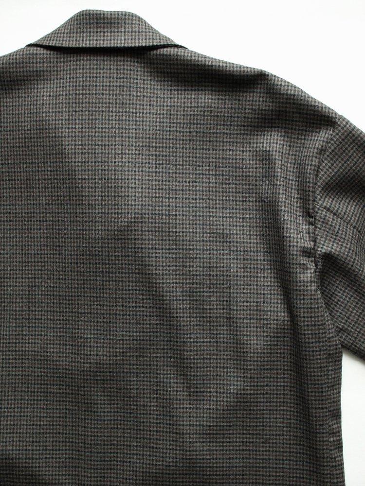 Winter Check Pajamas Jacket #GRAY BASE