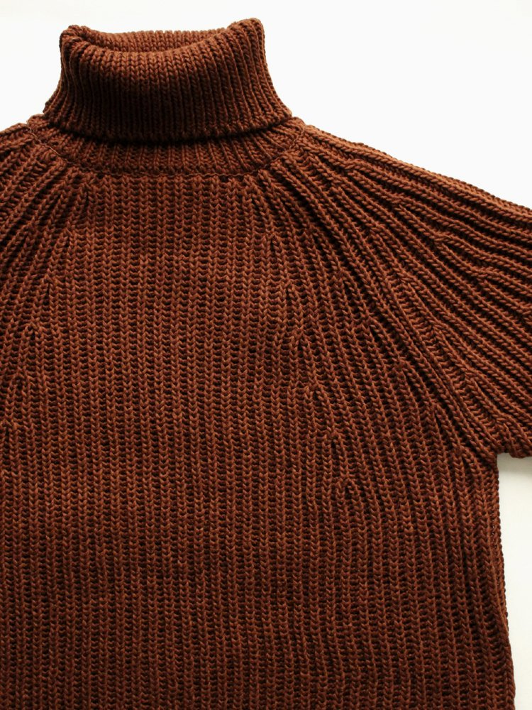 FELT YARN TURTLE SWEATER #CAYENNE