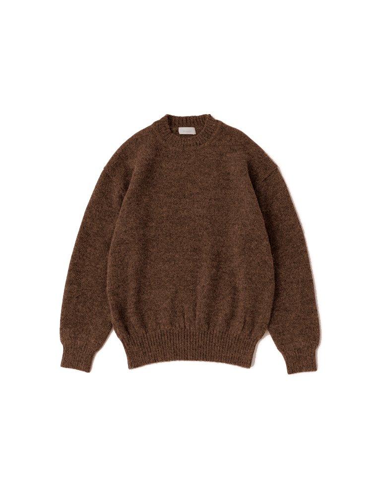 Phlannel|Baby Alpaca Crew- neck Knit #WALNUT