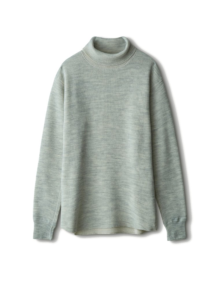 PHIGVEL MAKERS & Co.|C/W WAFFLE TURTLE NECK TOP #OATMEAL