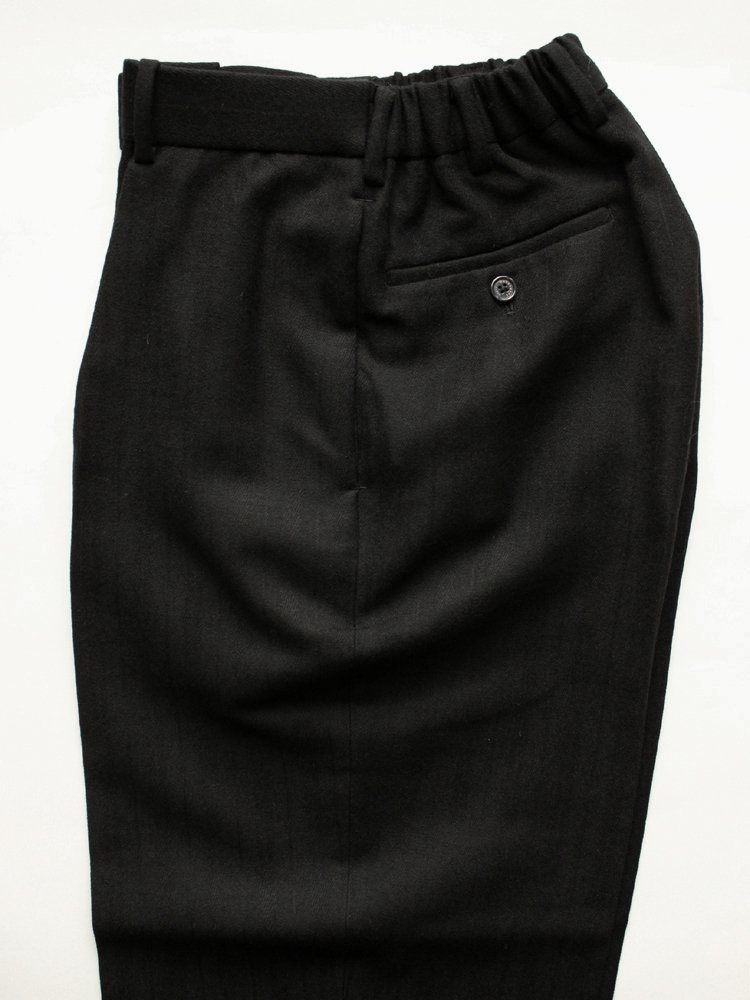 CLASSIC FIT TROUSERS WOOL DOBBY STRIPE #BLACK