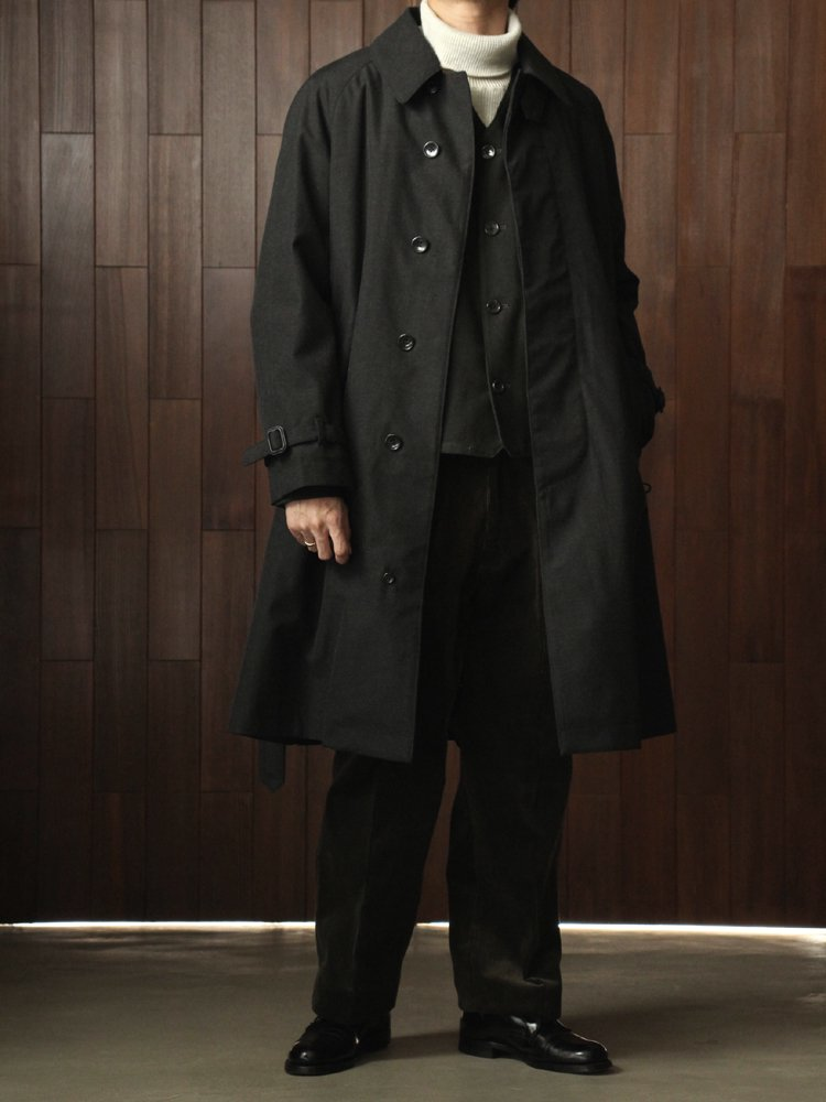 BELTED BAL COLLAR COAT #CARBON