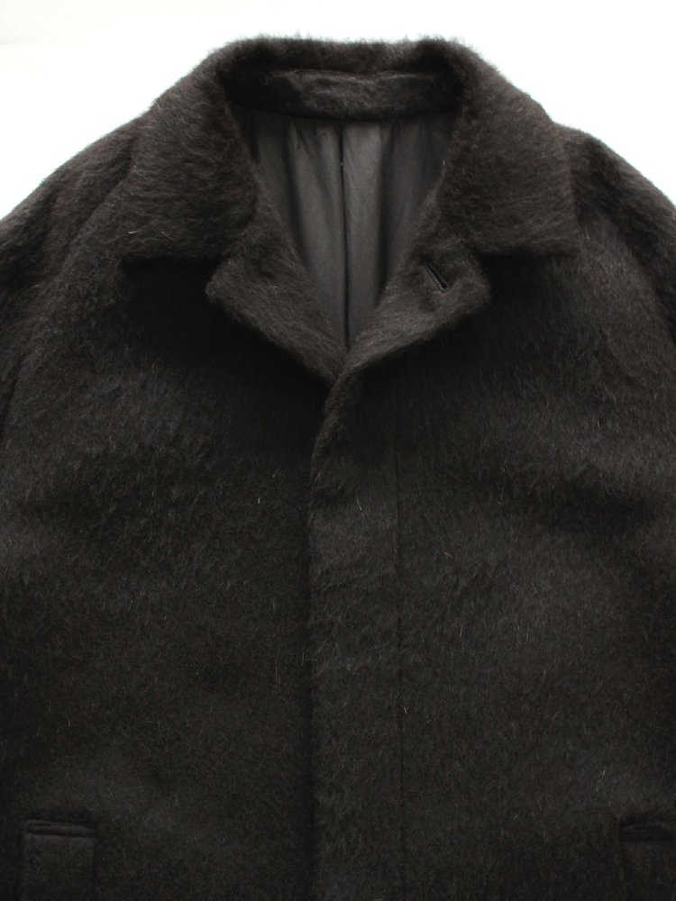 MAC COAT ALPACA W-CLOTH #NATURAL BLACK