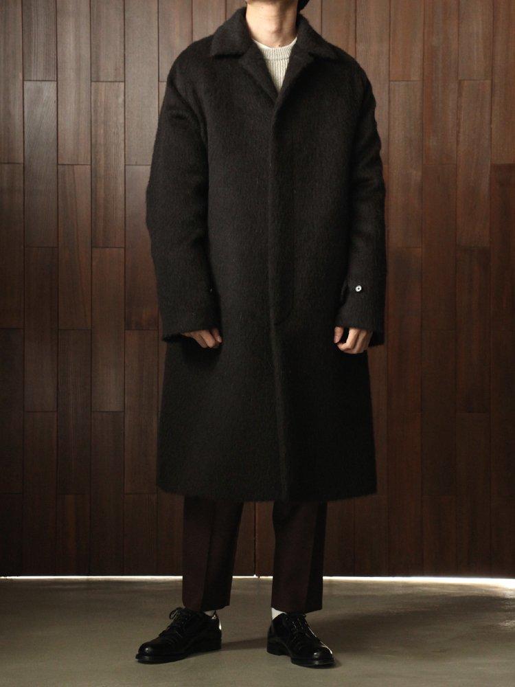 MAC COAT ALPACA W-CLOTH #NATURAL BLACK