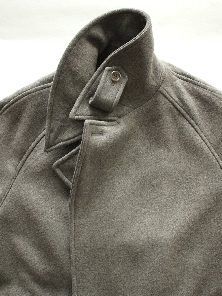 MELTON DOUBLE-BREASTED COAT #TAUPE