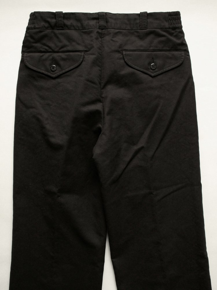 FRONT TUCK ARMY TROUSER #GRAPHITE