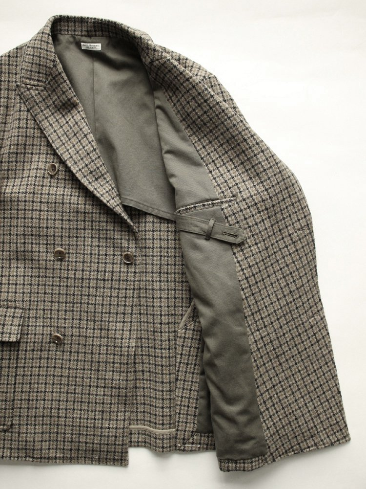 GOODMAN'S DOUBLE- BREASTED JACKET #GUNCLUB CHECK